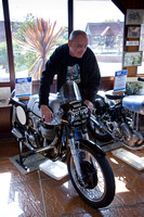Peter Wüster tries out a Manx Norton
