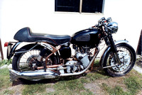 Velocette Clubman before & after.
